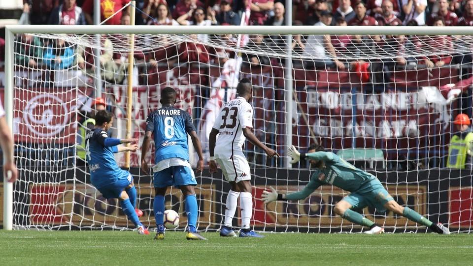 Il gol del 2-1 di Matteo Brighi (Empoli) ©