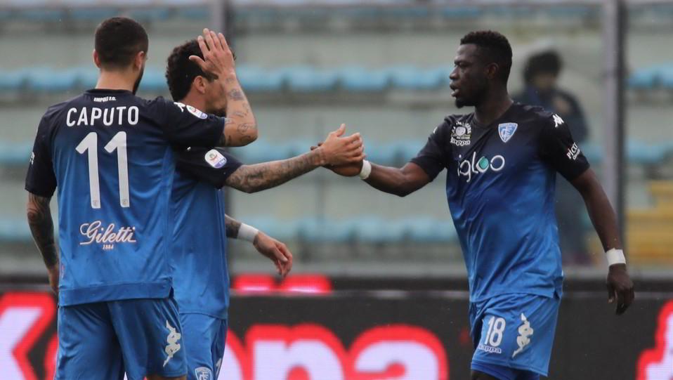 Afriyie Acquah (Empoli) esulta dopo aver segnato il gol del 1-0 ©