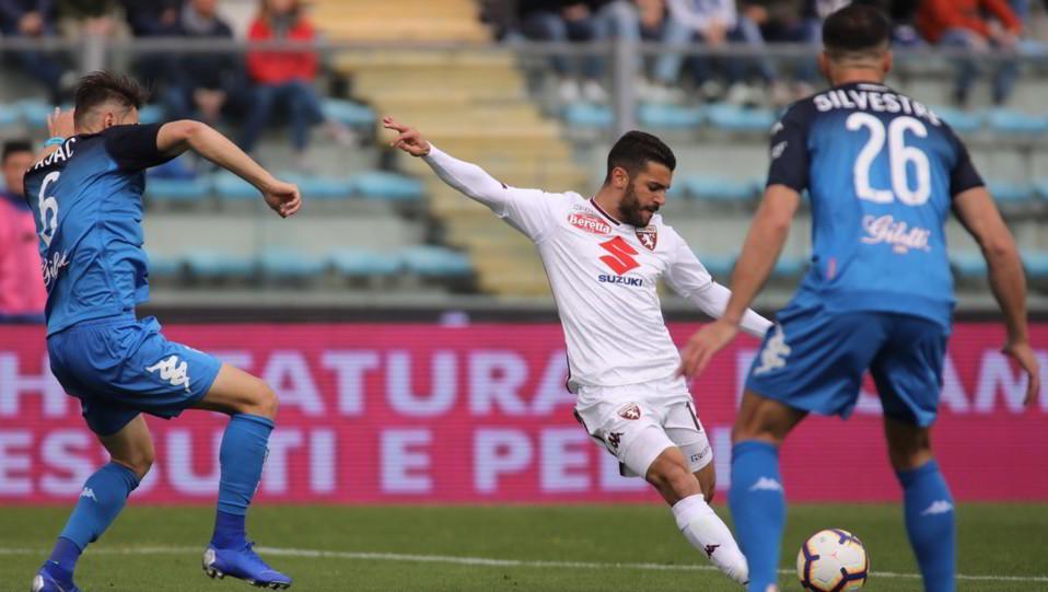 Il gol dell'1-1 di Silva Iago Falque (Torino) ©