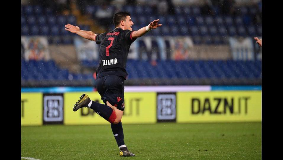 La gioia di Orsolini dopo il gol ©