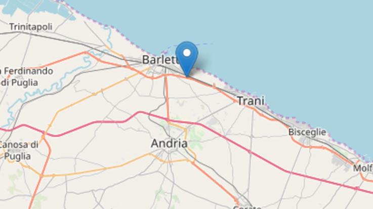 Terremoto, scossa di magnitudo 3.9 nella zona di Barletta