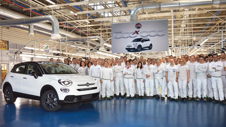 Fiat 500X, record a quota 500mila