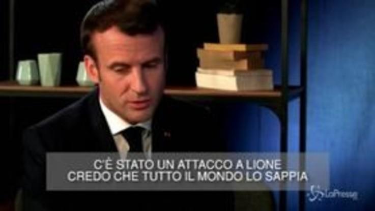 """Esplosione a Lione, Macron: """"Il mio pensiero ai feriti e alle loro famiglie"""""""