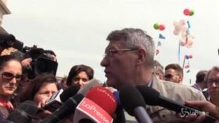 """Corteo pensionati, Landini: """"Il governo ci ascolti o valuteremo tutte le iniziative"""""""