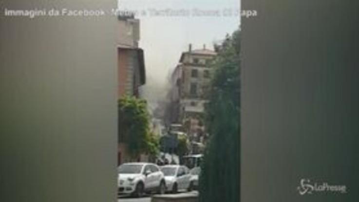Esplosione in un palazzo a Rocca di Papa: i soccorsi in azione