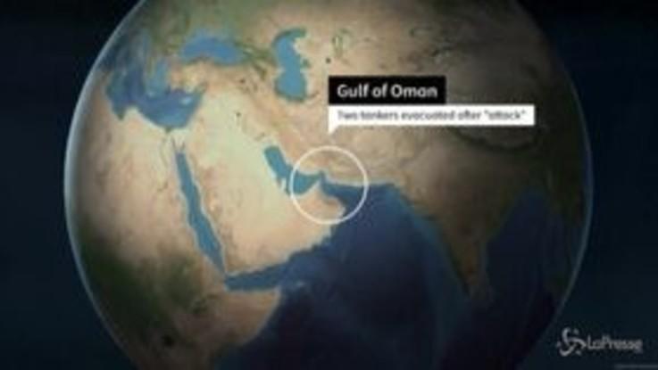 Due petroliere in fiamme al largo dell'Oman: la geolocalizzazione delle imbarcazioni