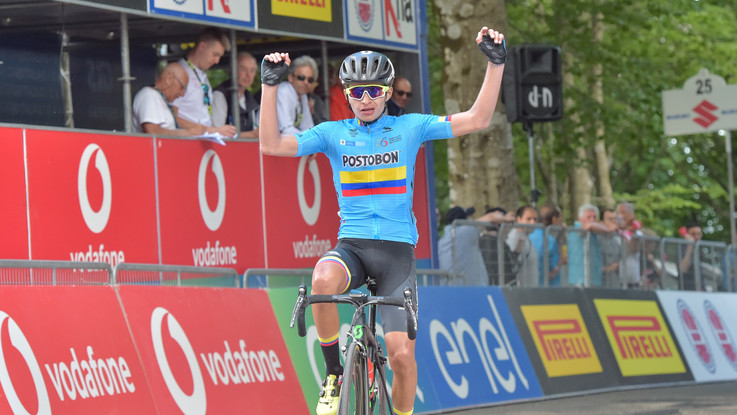 Giro d'Italia Under 23: Ardila svetta sull'Amiata e si veste di rosa