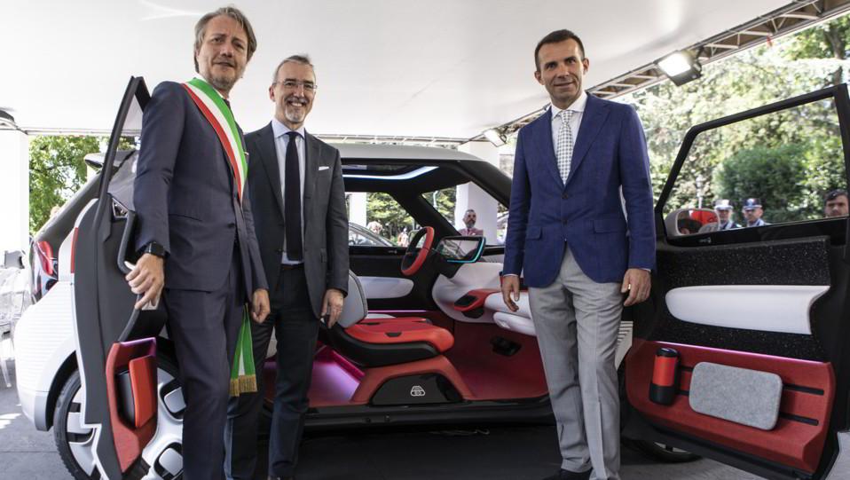 Gli interni della Fiat Concept Centoventi ©
