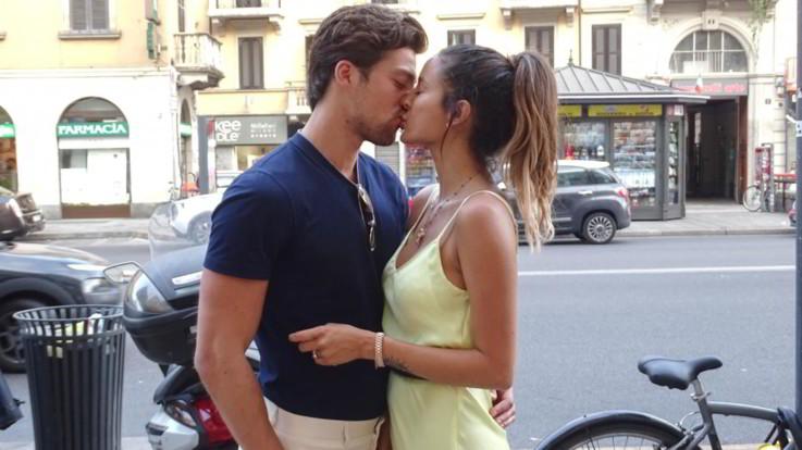 Mariana Rodriguez e Simone Susinna, baci e carezze a Milano