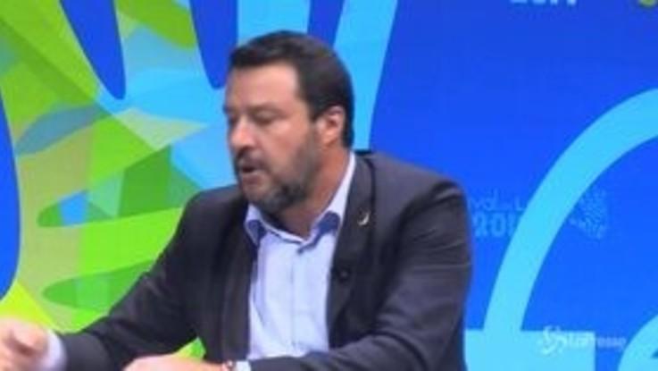 """Salvini: """"Serve riforma magistratura, c'è qualcuno che se sbaglia non paga"""""""