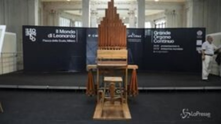 Milano, presentato il Grande organo continuo di Leonardo