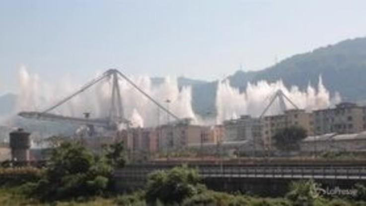 """Ponte Morandi: """"Il piano di demolizione ha funzionato"""""""