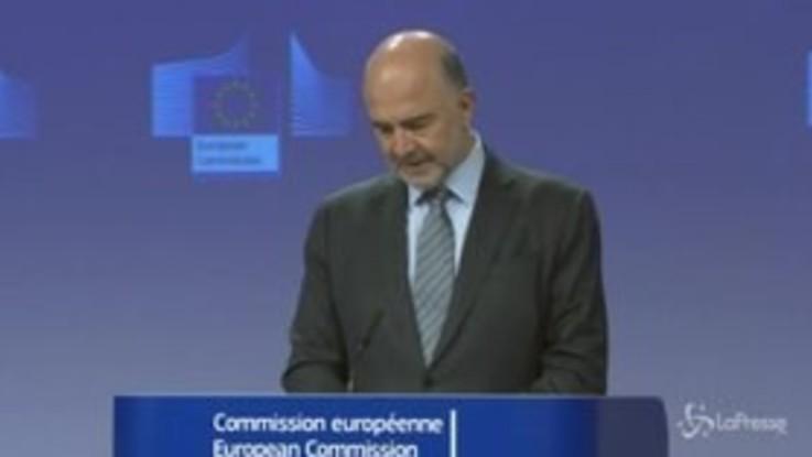 """Ue, Moscovici: """"La procedura nei confronti dell'Italia non è più necessaria"""""""
