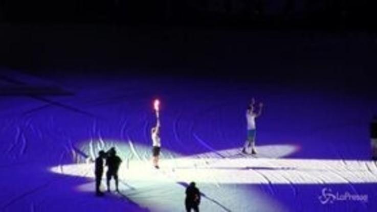 Universiade 2019, Lorenzo Insigne accende il braciere olimpico