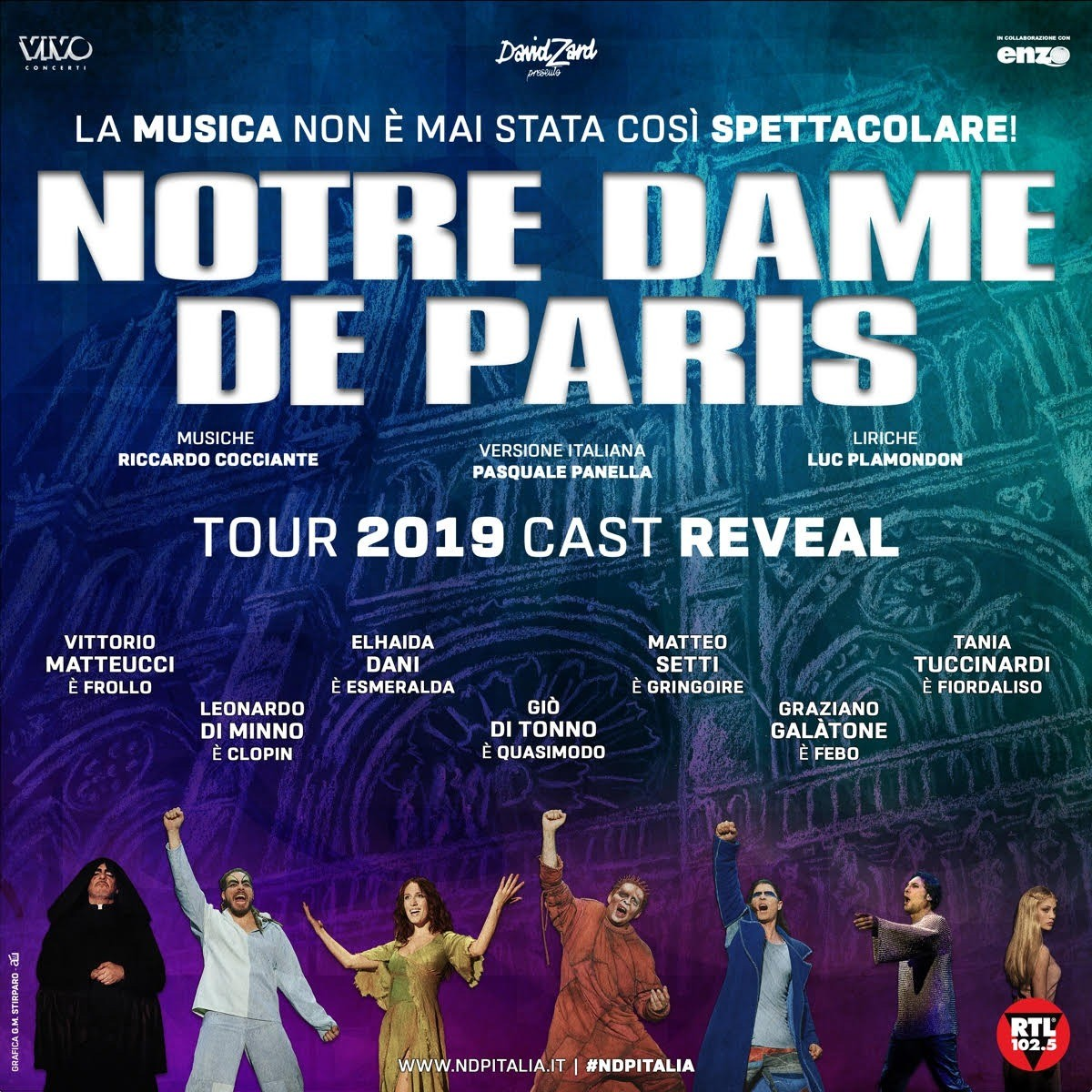 'Notre Dame de Paris' torna in Italia: in tour da settembre
