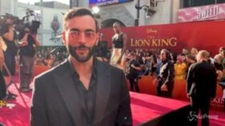 """Los Angeles, Mengoni alla premiere mondiale de """"Il Re Leone"""""""
