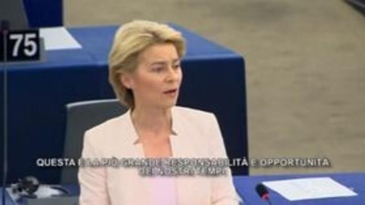 """Clima, von der Leyen: """"Accordo verde per l'Europa nei primi 100 giorni"""""""