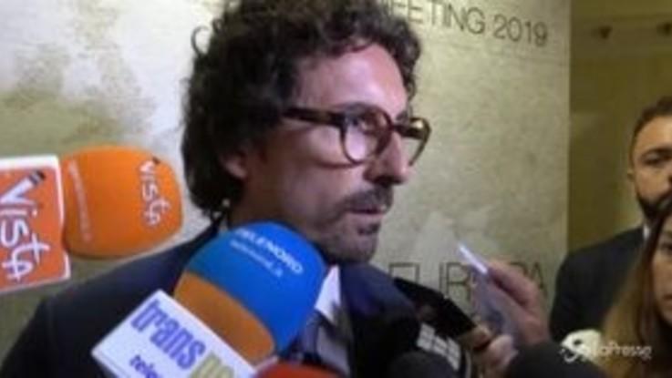 """Alitalia, Toninelli: """"Su Atlantia mi devo fidare di Fs"""""""