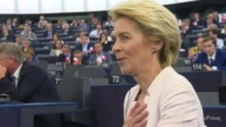 Ue, Von der Leyen eletta con voti M5s: ira della Lega