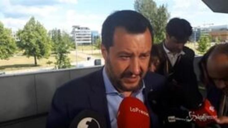 """Salvini : """"Crisi di governo? Abbiamo preso atto di una svolta storica del M5s"""""""