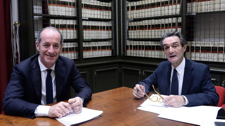 """Autonomia, Zaia e Fontana scrivono a Conte: """"Dialogo, ma non firmiamo farsa. Il premier ci ha ferito"""""""