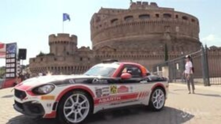 Rally Roma Capitale, le spettacolari immagini di Abarth