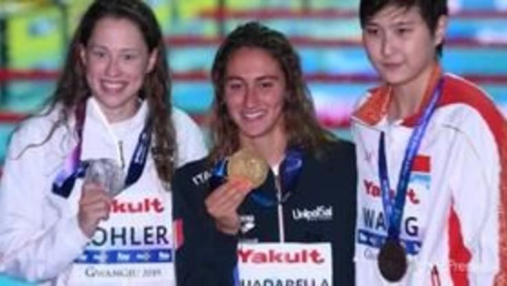 Nuoto, ai Mondiali oro nei 1500 per Simona Quadarella