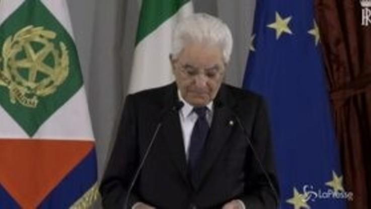 """Mattarella richiama le forze politiche: """"Serve collaborazione, non conflittualità"""""""