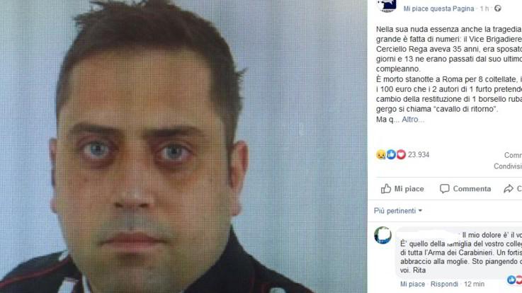 Carabiniere ucciso, i due militari identificarono il derubato 2 ore prima di omicidio