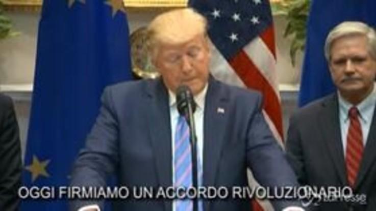 Trump annuncia l'accordo con l'Ue per aumentare l'esportazione di carne americana
