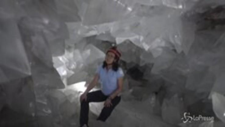 Spagna, lo spettacolo dei cristalli del geode più grande d'Europa