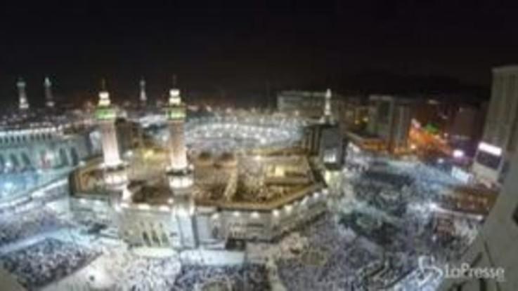 Islam, quasi 2 milioni di visitatori a La Mecca nel giorno prima dell'hajj