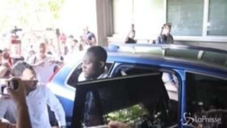 Lukaku, il neo acquisto dell'Inter a Milano per una visita alla sede del Coni