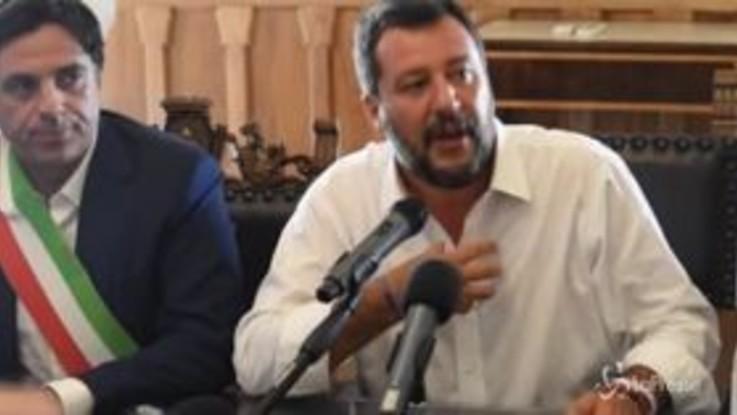 """Salvini a Catania: """"Accordo Grillo-Renzi? Patto della poltrona"""""""