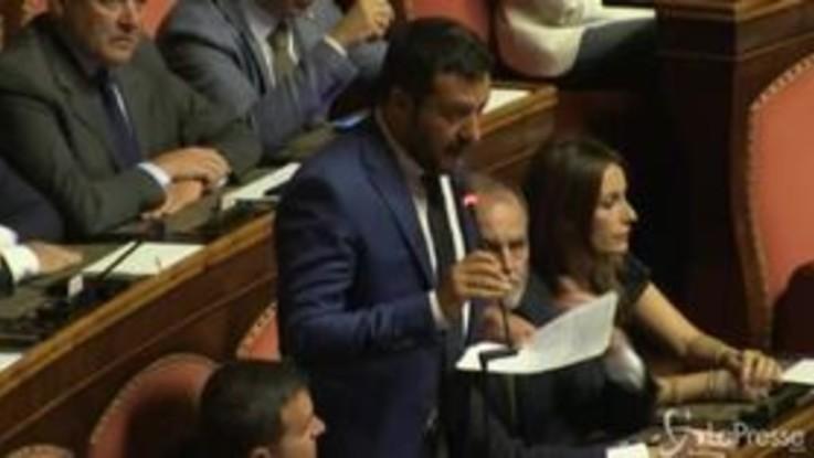 """""""Senatori abbronzati"""", botta e risposta Salvini-Marcucci"""