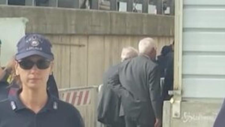 Ponte Genova, vertici Autostrade lasciano la cerimonia