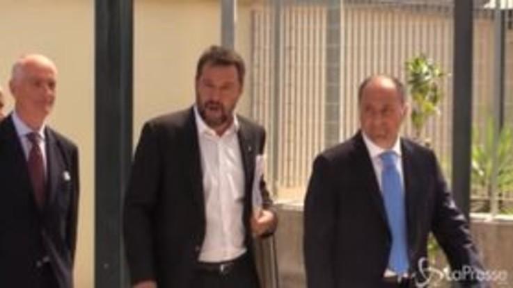 Salvini arriva a Castel Volturno per il comitato per l'ordine e la sicurezza