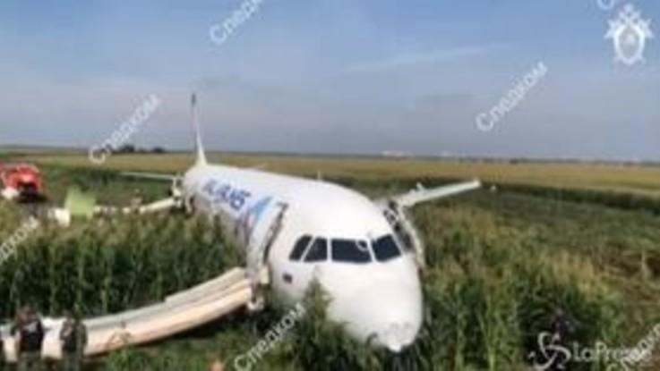 Atterraggio d'emergenza per un aereo russo: colpisce stormo di gabbiani