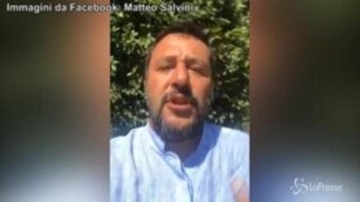 """Salvini: """"Non mi dimetto da ministro dell'Interno, non la do vinta"""""""