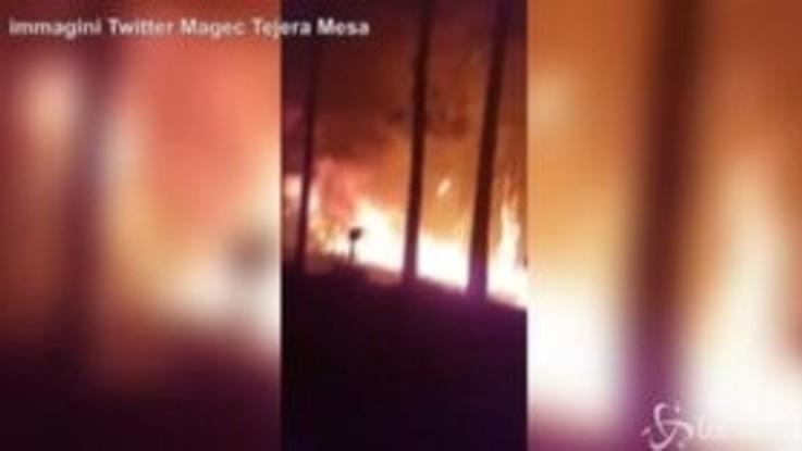 Incendio Gran Canaria: i Vigili del Fuoco al lavoro