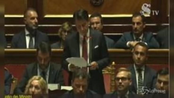"""Crisi, Conte: """"Salvini ha perseguito interessi personali e di partito"""""""