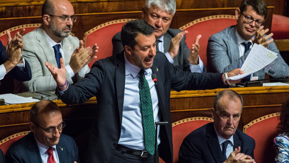 Matteo Salvini replica all'attacco di Conte ©