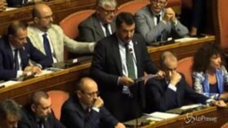 """Crisi governo, Salvini: """"Rifarei tutto da uomo libero"""""""