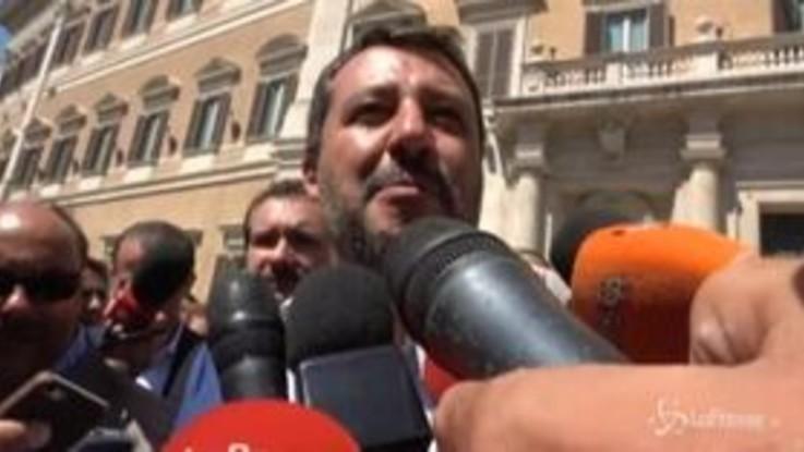 """Crisi, Salvini: """"La Lega ha pronta la manovra con taglio tasse e investimenti da 50 mld"""""""