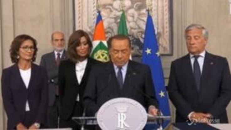 """Consultazioni, Berlusconi: """"No a nuove maggioranze tra diversi"""""""