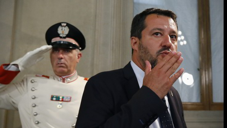 """Salvini: """"Farò di tutto per evitare che il Pd torni al governo"""""""
