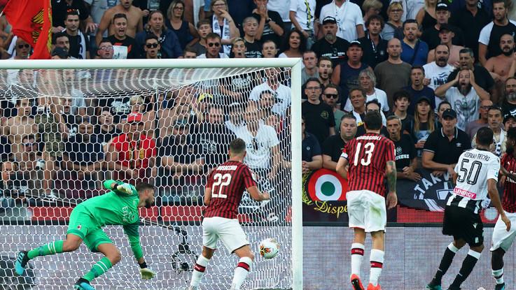 Serie A, Giampaolo stecca alla prima: Udinese batte Milan 1-0