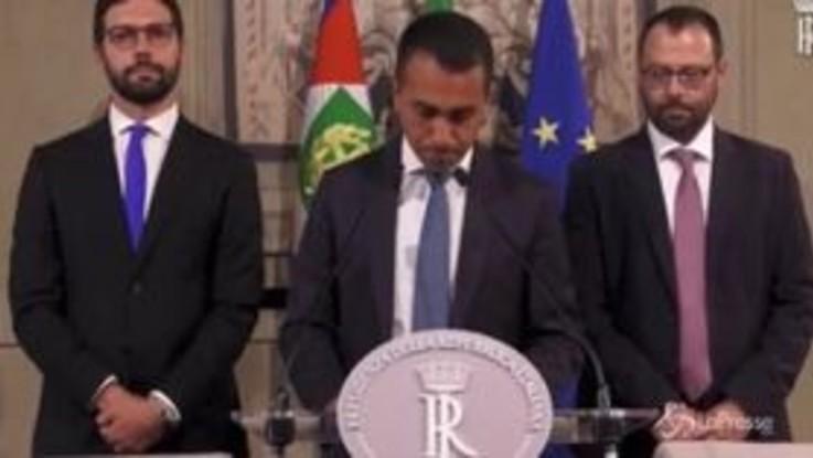 """Di Maio: """"Prima programma, poi nomi. Decideranno Conte e Mattarella"""""""