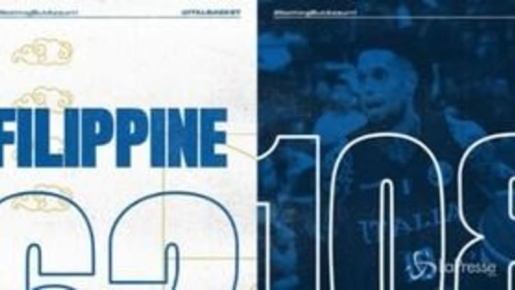 Mondiali di basket, l'Italia annienta le Filippine