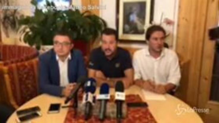 """Salvini: """"Andare a chiudere quota 100? E' governo truffa"""""""